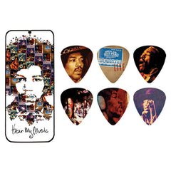 Dunlop Jimi Hendrix Hear My Music Guitar Pick Tin - Medium