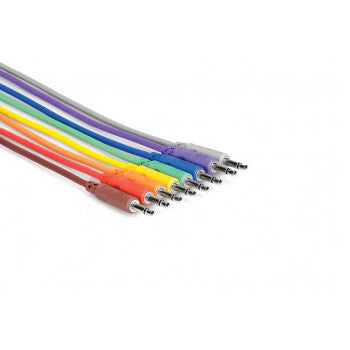 Hosa CMM-890 3Í Unbalanced Patch Cable 3.5 mmTS to Same (8 pack)