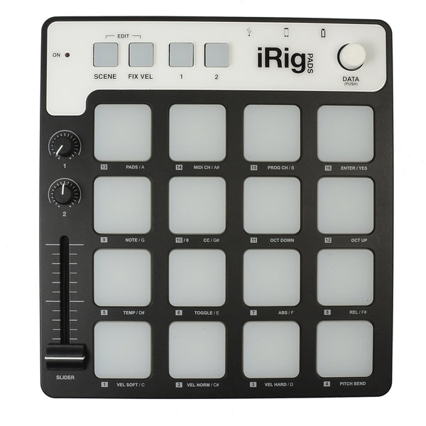 ik multimedia irig pads pad style midi controller for ios android mac pc chicago music. Black Bedroom Furniture Sets. Home Design Ideas