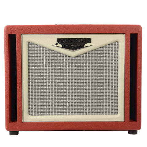 Jackson Ampworks 1x12 Dual Ported Cabinet - Red Scarlett & Ivory