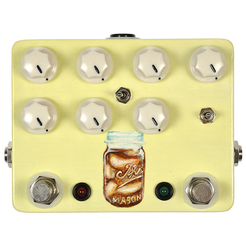 JHS Sweet Tea 2 in 1 Overdrive/Distortion V2 Hand Painted Mason Jar