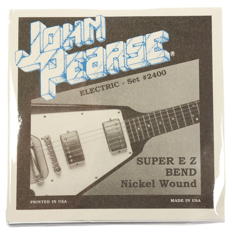 John Pearse Electric Strings Pure Nickel Super EZ Bend 9-42