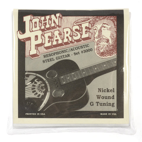 John Pearse Resophonic Strings Pure Nickel G Tuning 16-59