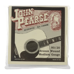 John Pearse Acoustic Strings 80/20 Bronze Medium 13-56