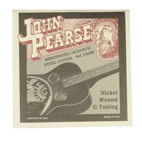 John Pearse Resophonic Strings Pure Nickel G Tuning