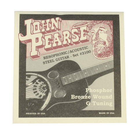 John Pearse Resophonic Strings Phosphor Bronze G Tuning 16-59