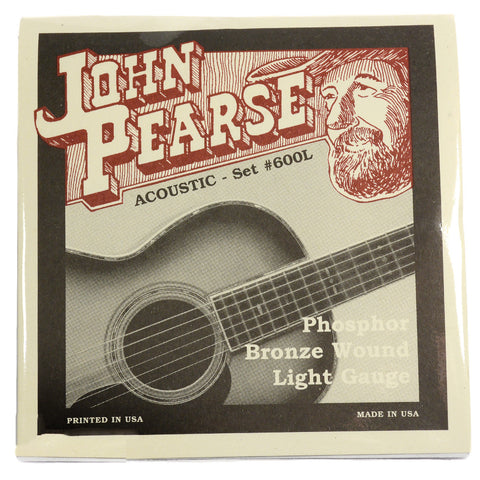 John Pearse Acoustic Strings Phosphor Bronze Light 12-53