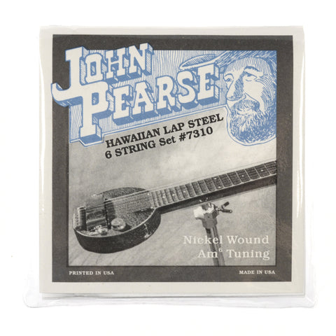 John Pearse Hawaiian Lap Steel Strings Pure Nickel Am6 Tuning 16-46