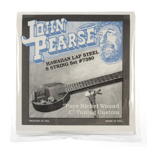 John Pearse Hawaiian Lap Steel Strings Pure Nickel C6 Tuning 15-32