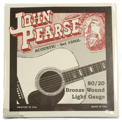John Pearse Acoustic Strings 80/20 Bronze Light 12-53