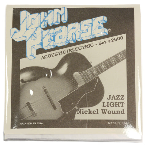 John Pearse Electric Strings Pure Nickel Jazz Light 11-50