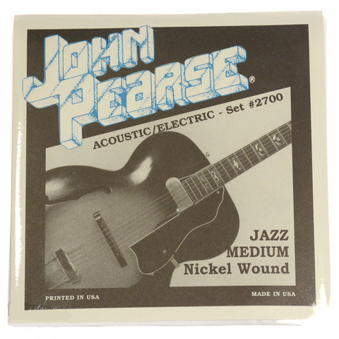 John Pearse Electric Strings Pure Nickel Jazz Medium 12-52