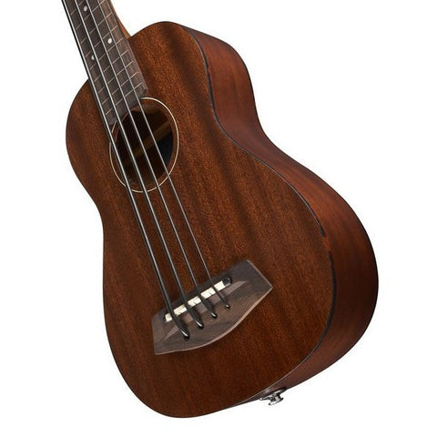 Kala U-Bass Acoustic/Electric Satin All-Solid Mahogany Fretless w/Case