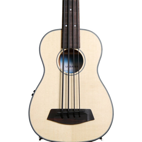Kala U-Bass Acoustic/Electric Satin Solid Spruce/Mahogany Fretless