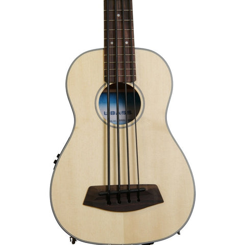 Kala U-Bass Acoustic/Electric Satin Solid Spruce/Mahogany Fretted