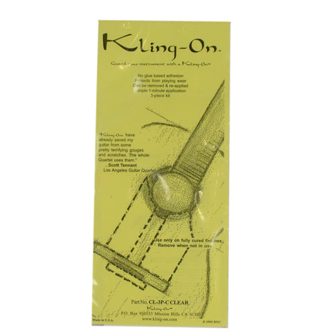Kling-On SS-3P-C Static Cling 3-Piece Classical Pickguard Clear