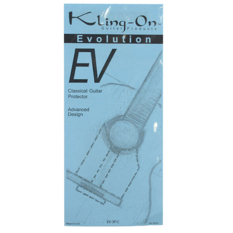 Kling-On EV-3P-C Evolution 3-Piece Clear Pickguard for Classical Guitar