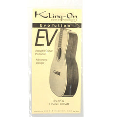 "Kling-On SS-1P-C Static Cling 1-Piece ""Tear-Drop"" Pickguard for Steel Acoustic Clear"