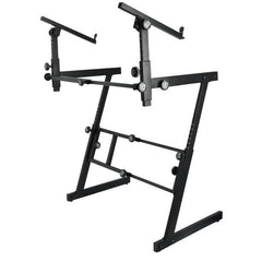 On Stage Stands Pro Heavy-Duty Folding Z Keyboard Stand - 2 Tier