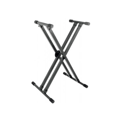 On Stage Stands Lok-Tight Pro Double-X Keyboard Stand w/Ergo-Lok