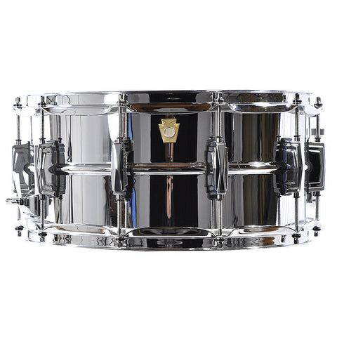 Ludwig 6.5x14 Chrome Over Brass Snare Drum w/Imperial Lugs - Smooth Shell