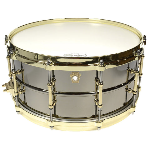 Ludwig 6.5x14 Black Beauty Snare Drum w/Brass Hardware
