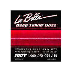La Bella 760T Deep Talkin Bass White Nylon Tape Wound 60-115