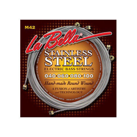 La Bella M42 Stainless Steel Round Wound Custom Light 40-100