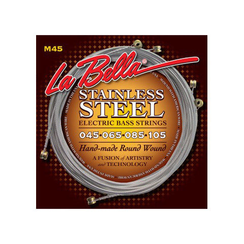 La Bella M45 Stainless Steel Round Wound Light 45-105