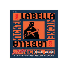 La Bella N1046 Electric Guitar Nickel Roller Wound Strings Regular 10-46