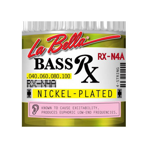 La Bella RX-N4A RX Nickel-Plated Round Wound Custom Light 40-100