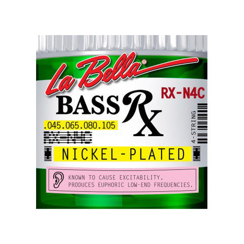 La Bella RX-N4C RX Nickel-Plated Round Wound Standard Light 45-105