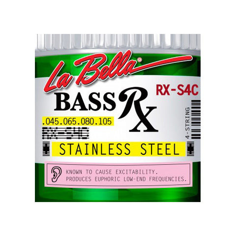 La Bella RX-S4C RX Stainless Steel Round Wound Standard Light 45-105