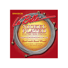 La Bella SN42CB Nickel Plated Round Wound Custom Light Bass Strings 29-128