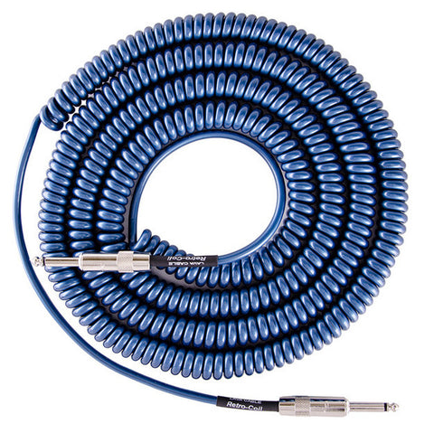 Lava Super Coil Instrument Cable 35' Straight-Straight Metallic Blue