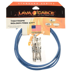 Lava Cable Tightrope Solder-Free Pedal Board Kit 10' Chicago Blue