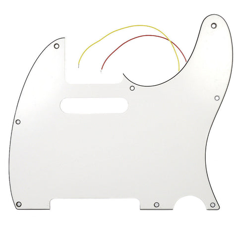 Lindy Fralin Noise Canceling Pickguard for Telecaster 3-Ply White