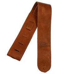 Chicago Music Exchange Logo Leather Strap Brown