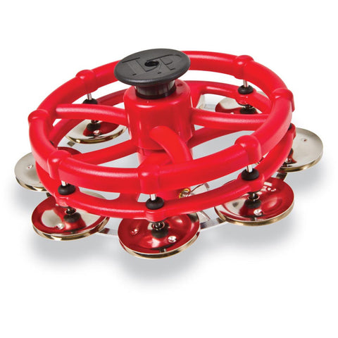 LP Click Hi-Hat Tambourine with Nickel Plated Steel Jingles