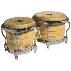 LP 7 & 8.5 Inch Generation II Bongos Natural Wood w/Chrome Hdwr