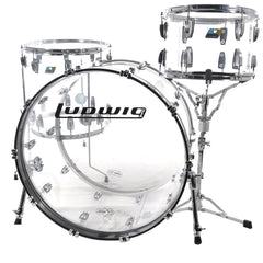 Ludwig Vistalite 3pc Drum Kit 13/16/24 Clear
