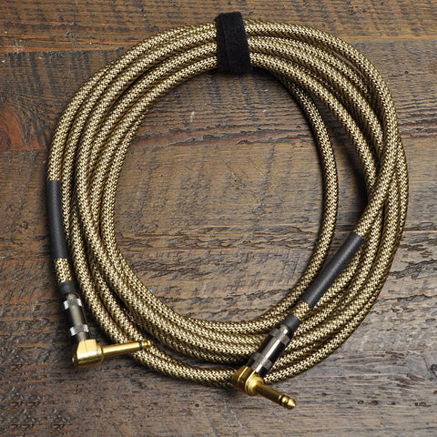 Lava Vintage Tweed 1/4 Inch Instrument Cable 15' Angle-Angle