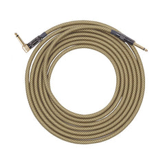 Lava Vintage Tweed 1/4 Inch Instrument Cable 15' Angle-Straight