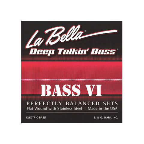 La Bella 767-6F Deep Talkin Bass Flat Wound Bass VI Strings 26-95