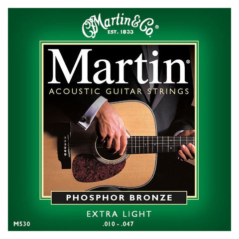 Martin M530 Phosphor Bronze Acoustic Strings 10-47 Extra Light