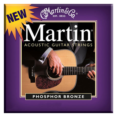 Martin M535 Phosphor Bronze Acoustic Strings 11-52 Custom Light