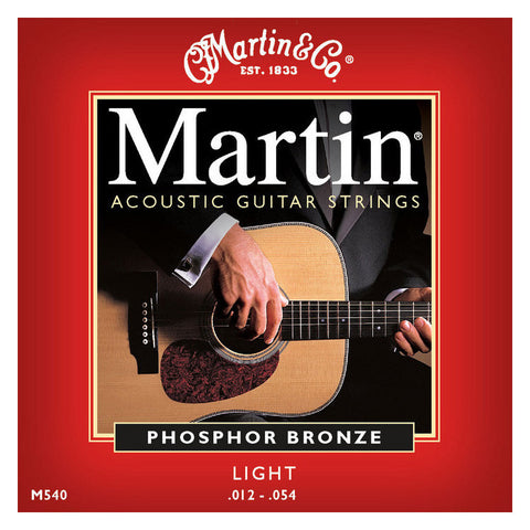 Martin M540 Phosphor Bronze Acoustic Strings 12-54 Light