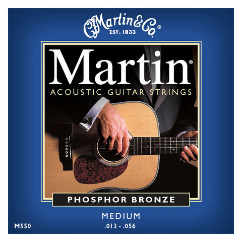 Martin M550 Phosphor Bronze Acoustic Strings 13-56 Medium