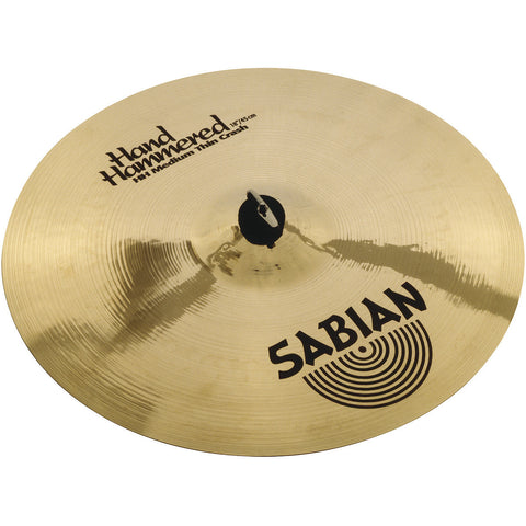 Sabian 17 Inch Hand-Hammered Medium Thin Crash Cymbal