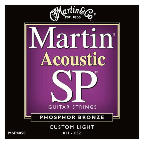 Martin MSP4050 SP Phosphor Bronze Acoustic Strings Custom Light 11-52